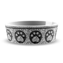 Granite Paw Print Pet Bowl by TarHong