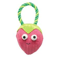 Grriggles Happy Fruit Rope Tug Dog Toy - Strawberry
