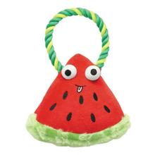 Grriggles Happy Fruit Rope Tug Dog Toy - Watermelon