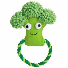 Grriggles Happy Veggies Rope Tug Dog Toy - Broccoli