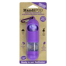HandiPOD Dispenser with Poop Bags and Hand Sanitizer - Purple