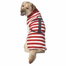 Handmade Anchor Stripe Wool Dog Sweater