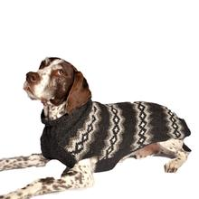 Handmade Nordic Diamond Wool Dog Sweater - Gray