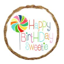 Happy Birthday Sweetie Dog Treat Cookie