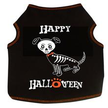 Happy Halloween Skeleton Dog Tank - Black