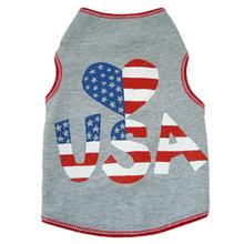 Heart USA Dog Tank - Gray