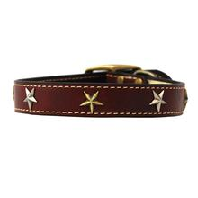 Heirloom Old Glory Dog Collar by Auburn Leathercrafters - Burgundy