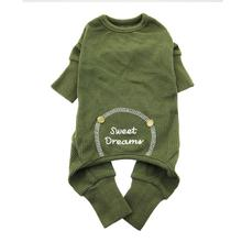 Herb Green Sweet Dreams Thermal Dog Pajamas by Doggie Design