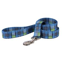 Highland Plaid Dog Leash by Yellow Dog - Blue