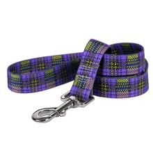 Highland Plaid Dog Leash by Yellow Dog - Purple