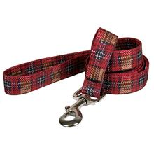 Highland Plaid Dog Leash by Yellow Dog - Red