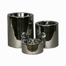 High-Rise Nickel-Plated Dog Feeder Bowl