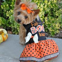 Halloween Dog Harness Dress - Fab-BOO-lous