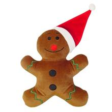 Holiday Gingerbread Man Dog Toy