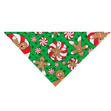 Holiday Gingerbread Men Dog Bandana