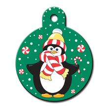 Holiday Penguin Engravable Pet I.D. Tag