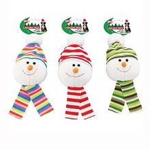 Holiday Snowball Dog Toy with Scarf
