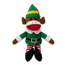 Holiday Sock Monkey Dog Toy - Buddy the Elf