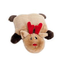 Holiday Squeakie Pad Dog Toy - Reindeer