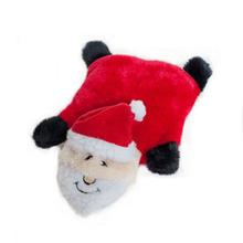 Holiday Squeakie Pad Dog Toy - Santa