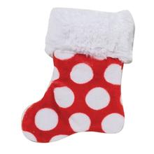 Holiday Stocking Dog Toy by West Paw - Red Spots