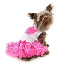 Hot Pink Cupcake Dog Dress by Pawpatu