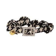 Houndstooth Cat Collar by Catspia - Beige
