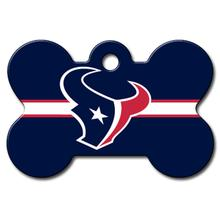 Houston Texans Engravable Pet I.D. Tag - Bone