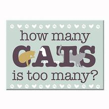 """How Many Cats Is Too Many"" Indoor Magnet by Dog Speak"