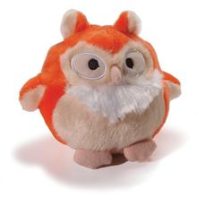 Howling Hoots Dog Toy - Orange