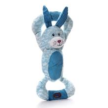 Huggable Tuggables Dog Toy - Blue Bunny