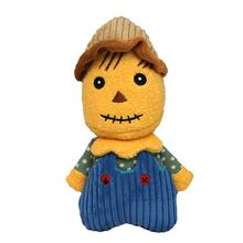 HuggleHounds Halloween Plush Treat Dog Toy - Scarecrow