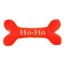 HuggleHounds Holiday Bone Dog Toy - Ho-Ho-mongous