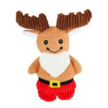 HuggleHounds Holiday Cookie Shaped Dog Toy - Moose