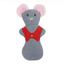HuggleHounds Holiday Cookie Shaped Dog Toy - Mouse