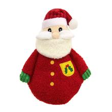 HuggleHounds Holiday Cookie Shaped Dog Toy - Santa