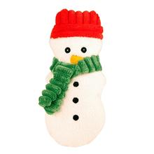 HuggleHounds Holiday Cookie Shaped Dog Toy - Snowman