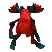 HuggleHounds Holiday Knottie Dog Toy - Festive Moose