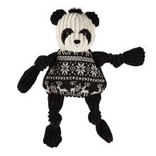 HuggleHounds Holiday Knottie Dog Toy - Panda with Sweater