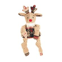 HuggleHounds Holiday Knottie Dog Toy - Rudy with Sweater
