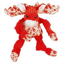 HuggleHounds Holiday Knottie Dog Toy - Snowflake Moose