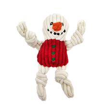 HuggleHounds Holiday Knottie Dog Toy - Snowman with Sweater