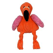 HuggleHounds Knotties Dog Toy - Flamingo