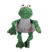 HuggleHounds Knotties Dog Toy - Frog