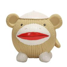 HuggleHounds Ruff-Tex Dog Toy - Sock Monkey