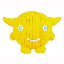 HuggleHounds Ruff-Tex Dog Toy - Yellow Monstah