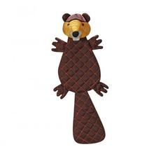 HuggleHounds Tuffut Luxx Dog Toy - Beaver