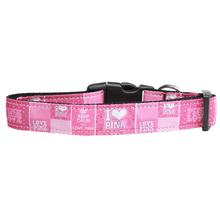 I Heart Pink Dog Collar
