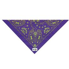 Insect Shield Paisley Dog Bandana - Purple