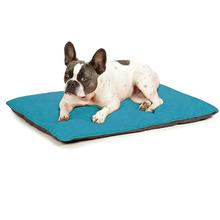 Insect Shield Reversible Dog Bed - Teal and Slate